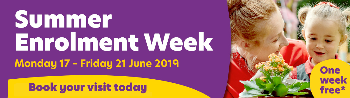 Book a visit at our Enrolment Week - Monday 17 June - Friday 21 June