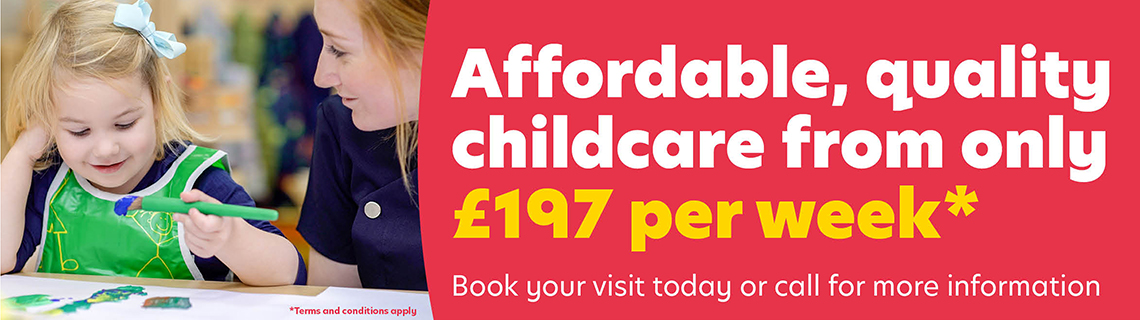Quality childcare from £197 per week*
